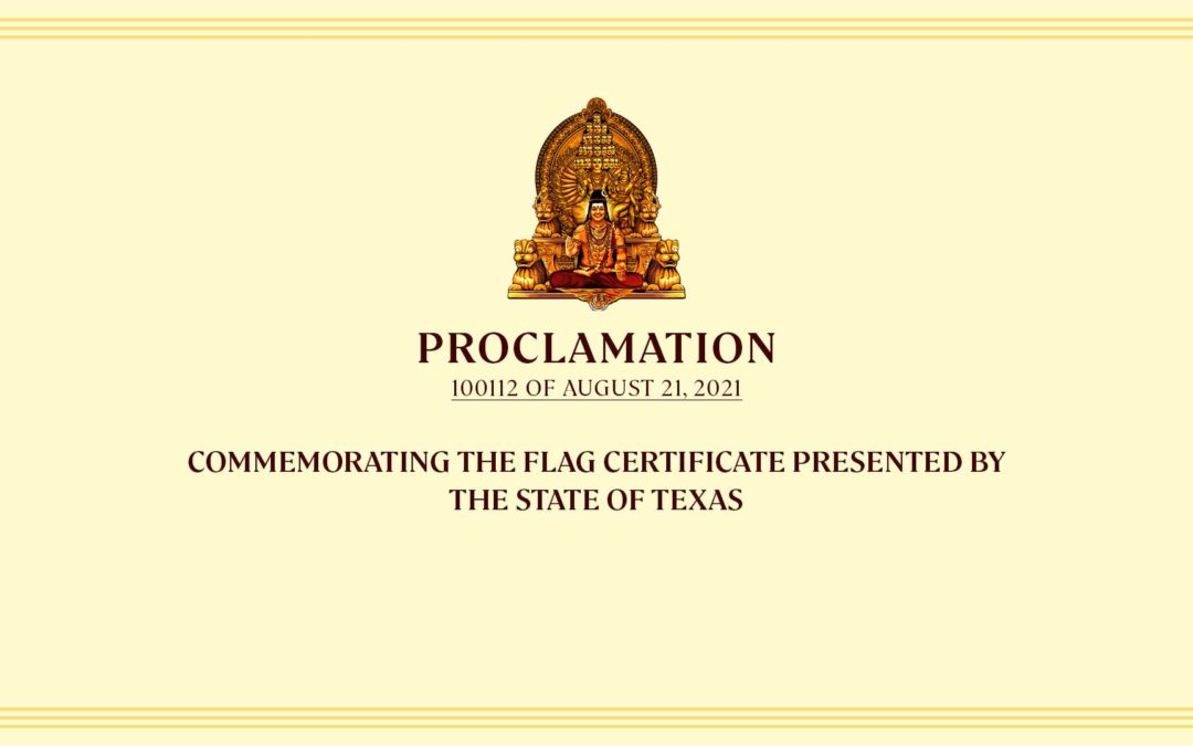 Commemorating The Flag Certificate Presented By The State Of Texas